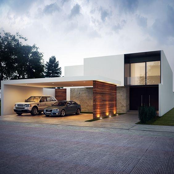 Carport Beton Minimalis Konsep Garasi Setengah Terbuka