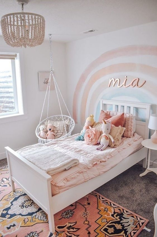 Desain Kamar Tidur Anak Feminim Minimalis