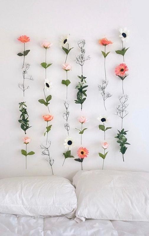 Hiasan Dinding Kamar Tidur Model Artificial Flower