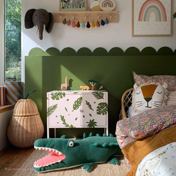 Hiasan Dinding Kamar Tidur Tema Flora & Fauna