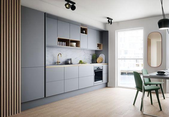 Kitchen Set HPL Minimalis Modern in Grey