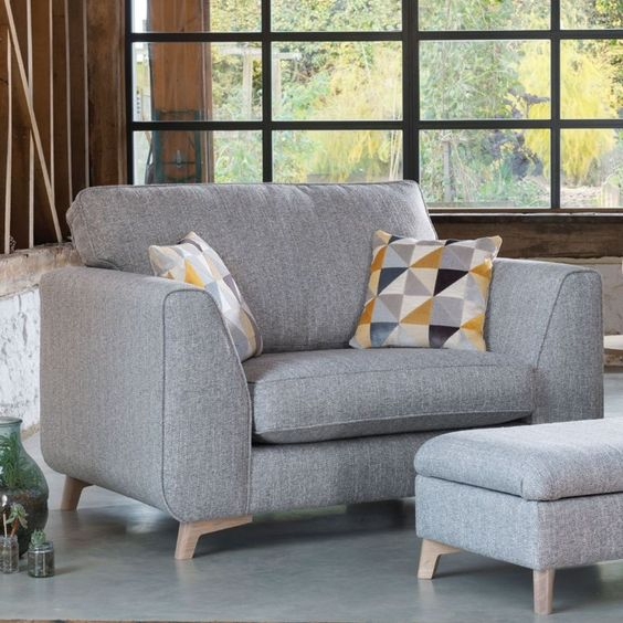 Kursi Sofa Grey and Mosaic Pattern