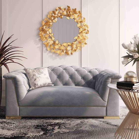 Kursi Sofa Grey and Silver