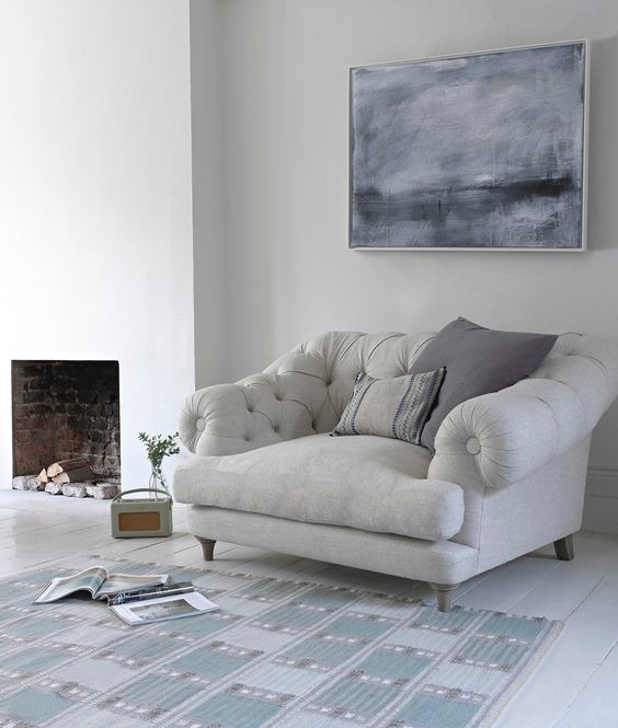 Kursi Sofa Light and Deep Grey