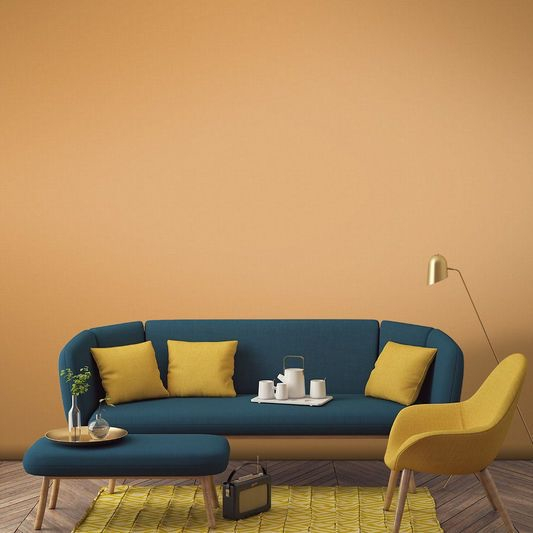 Kursi Sofa Navy and Mustard
