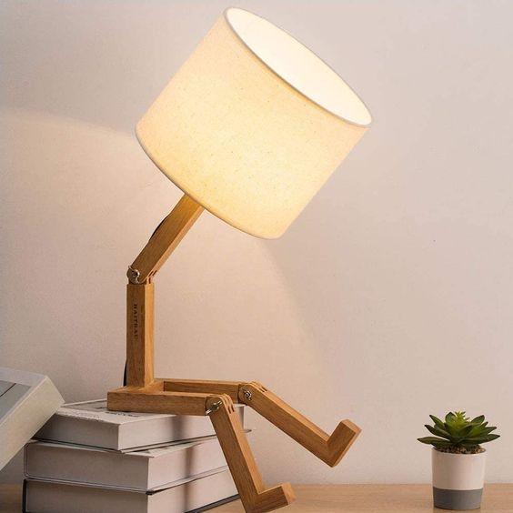 Lampu Belajar Wood and Beige