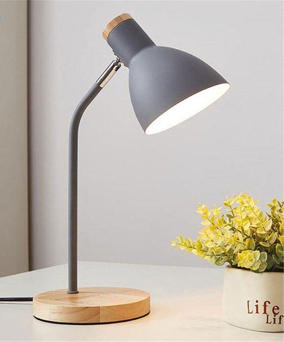 Lampu Belajar Wood and Grey