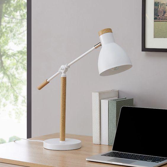 Lampu Belajar Wood and White