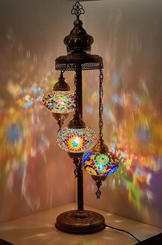 Lampu Tidur Gantung Mozaik
