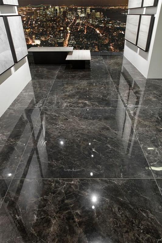 Lantai Granit Motif Corak Putih