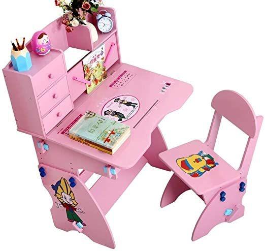 Meja Belajar Anak Serba Pink