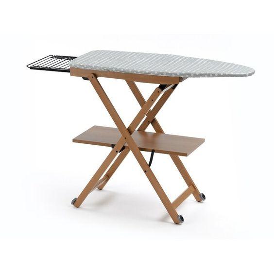 Meja Setrika Polkadot dengan Rak Lipat
