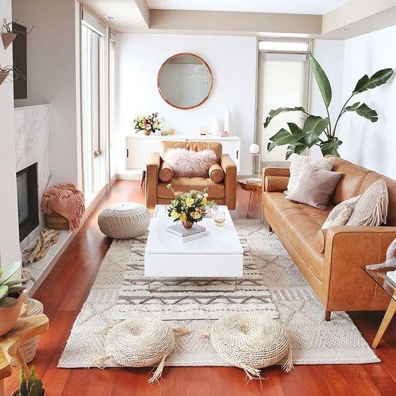 Ruang Keluarga Gaya Bohemian Modern