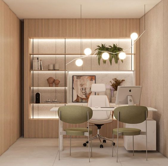 Ruang Kerja Nyansa Beige Green Olive