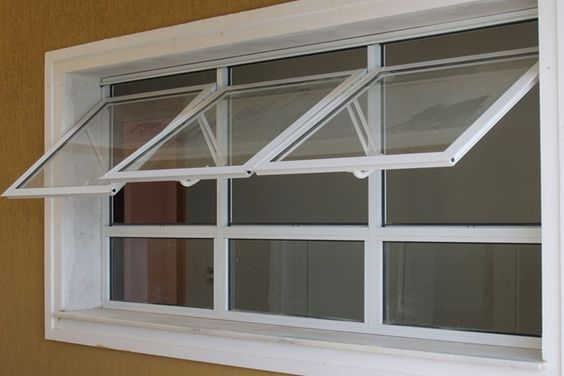 Ventilasi Model Awning Window Rangka Putih