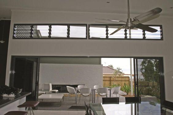 Ventilasi Model Jalousie Window Rangka Hitam