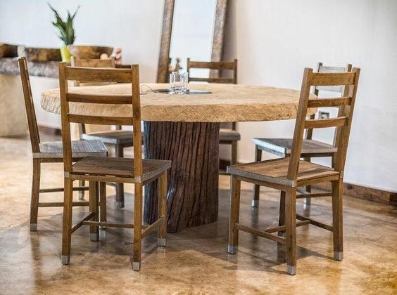 Coffe Table Kayu Jati Model Bulat
