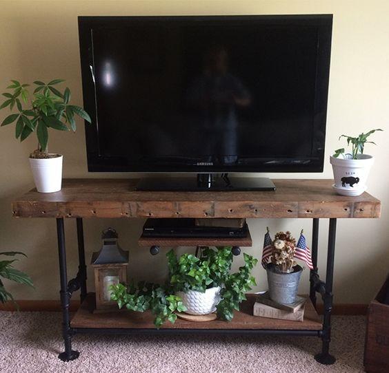 Rak TV Kayu 2 Tingkat