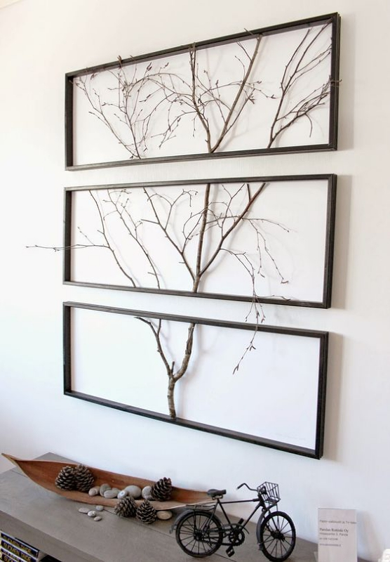 Hiasan Dinding Kayu dari Ranting Pohon Kering