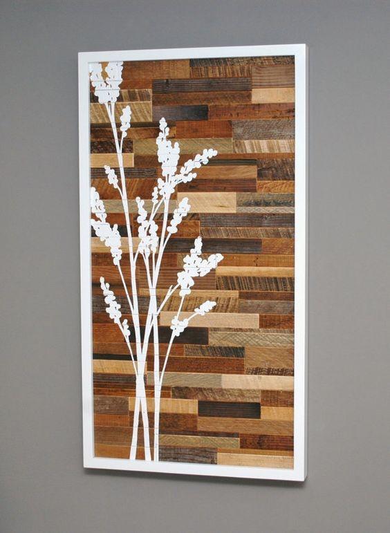 Hiasan Dinding Kayu dengan Konsep Potongan Balok Kayu