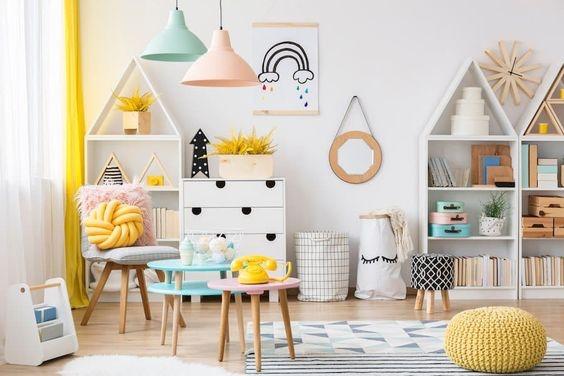 Ruang Bermain Anak dengan Warna Dinding Netral